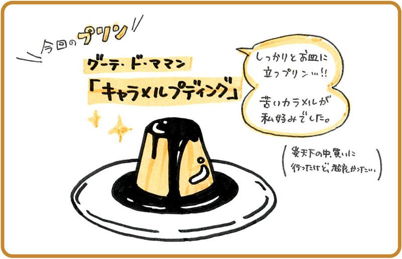 \今回のプリン/ グーテ・ド・アマン「キャラメルプディング」(しっかりとお皿に立つプリン。苦いキャラメルが私好みでした)